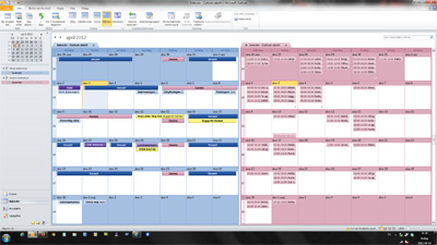 Dubbel kalender med iCloud